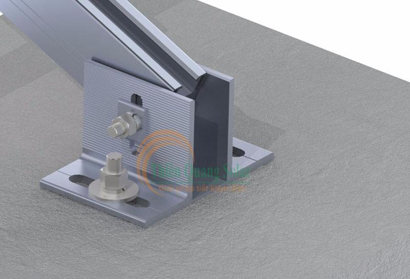 Cách lắp pin năng lượng mặt trời trên mái bê tông