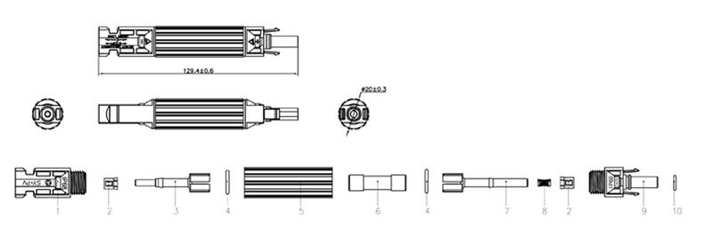 Cầu chì MC4 1000V 15A