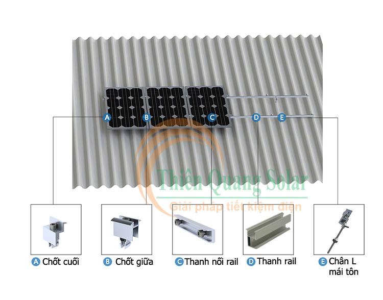 Hướng dẫn lắp pin năng lượng mặt trời trên mái tôn